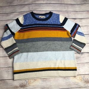 LOFT Striped Crew Neck Sweater Size LP